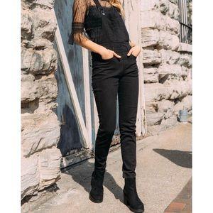 Franscesca's Black Pant Overalls